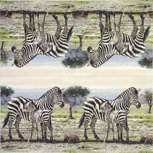 Paper Napkin - Zebras