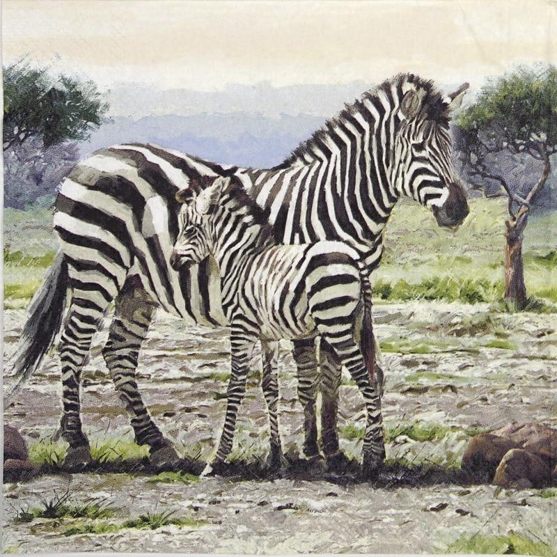 Lunch Napkins (20) - Zebras