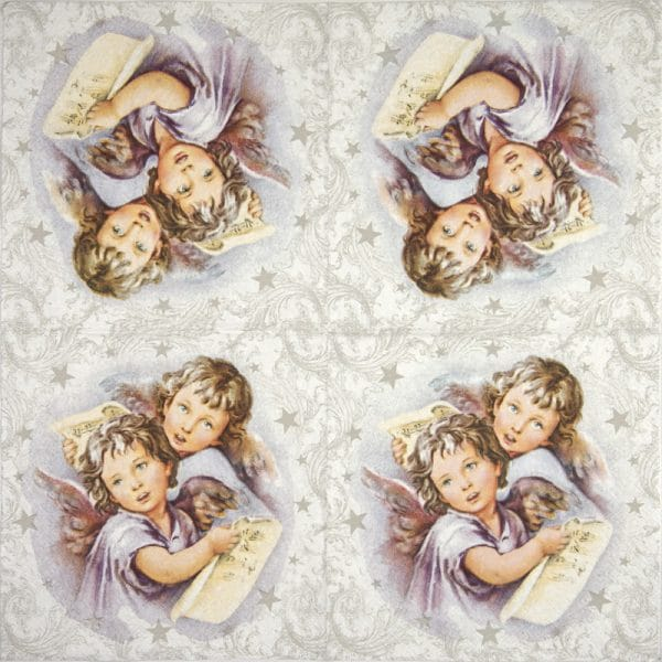 Lunch Napkins (20) - Two Christmas angels