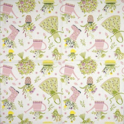 Paper Napkin - My lovely garden