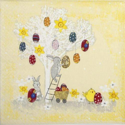 Paper Napkin - Easter Tree