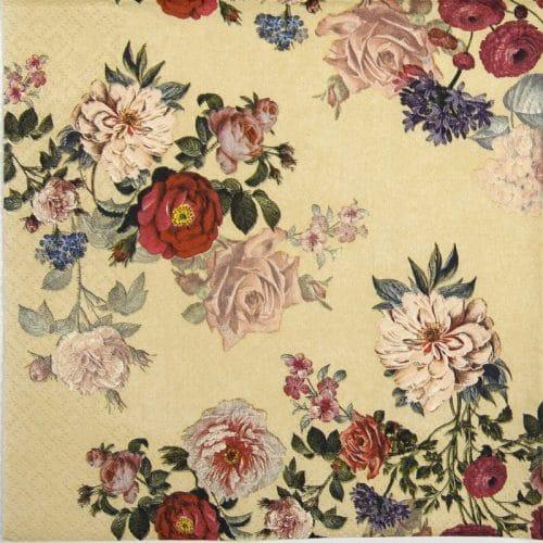 Paper Napkin - Elisabeth cream