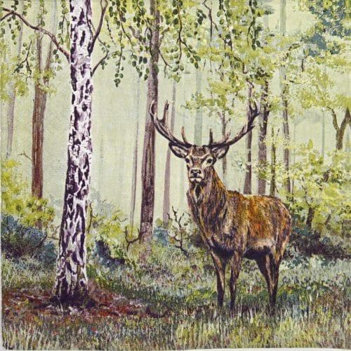 Paper Napkin - Wild deer