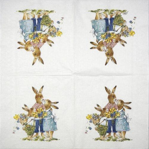 Paper Napkin - Easter Family