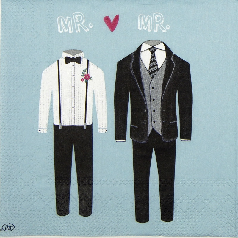 Paper Napkin - Mr. & Mr. blue