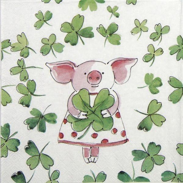 Lunch Napkins (20) - Piggy luck