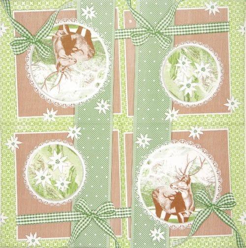 Paper Napkin - Finn Green Patchwork