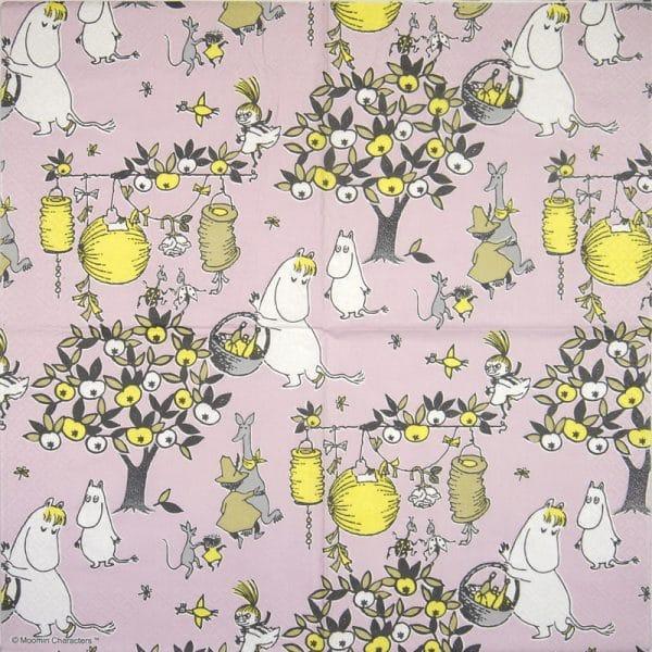 Paper Napkin -  Moomin Jubilee pink