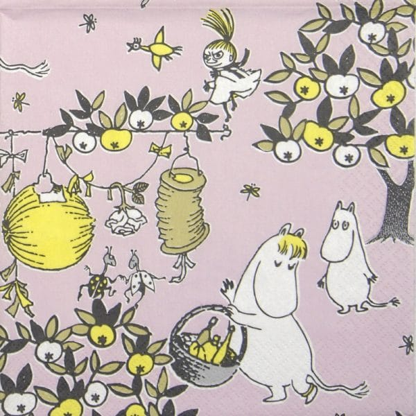 Lunch Napkins (20) - Moomin Jubilee pink