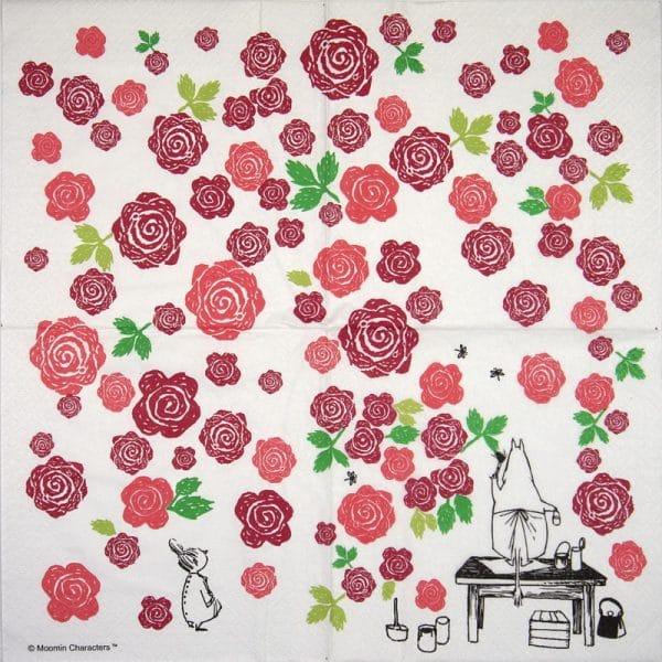 Paper Napkin -  Moominmamma Rosegarden