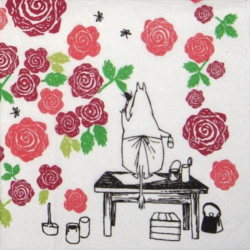 Lunch Napkins (20) - Moominmamma Rosegarden