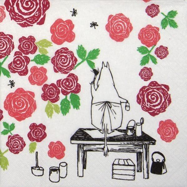 Lunch Napkins (20) - Moominmamma Rosegarden