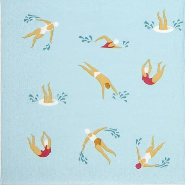 Paper Napkin - Swimming