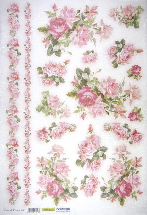 Rice Paper - Rose &  Roses