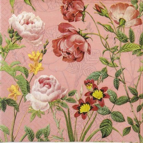 Paper Napkin - Mademoiselle rose