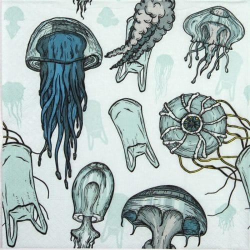Paper Napkin - Jellyfishes