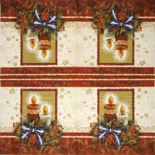 Lunch Napkins (20) - Christmas Candles