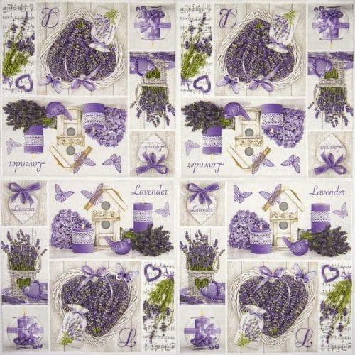 Paper Napkin - Lavender collage