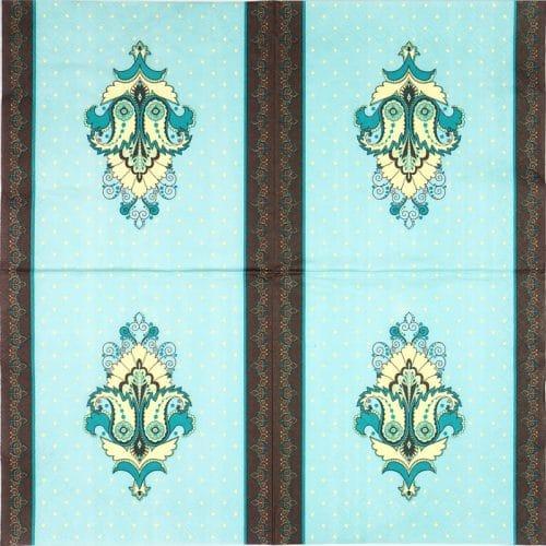 Paper Napkin - Turquoise Ornaments