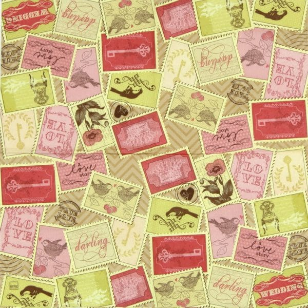 Lunch Napkins (20) - Romantic Stamps