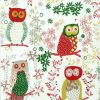 Paper Napkin - Jolly Owls red