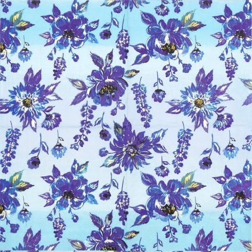 Paper Napkin - Lauren Flower Blue