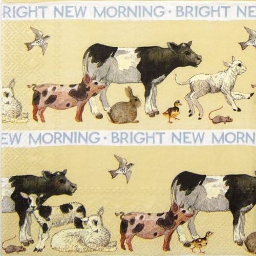 Paper Napkin - Bright new morning