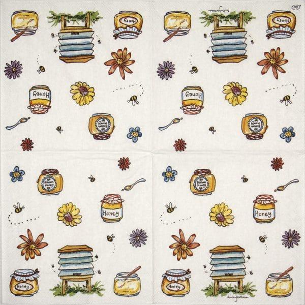 Cocktail Napkins (20) - Anita Jeram: Bee honey