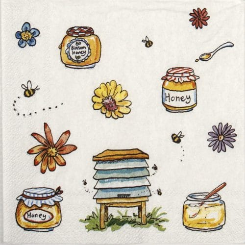 Cocktail Napkins (20) - Anita Jeram: Bee honey