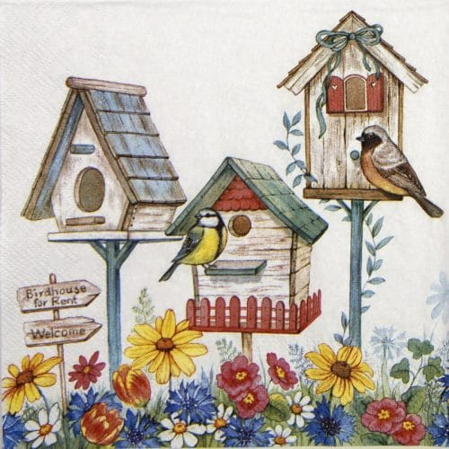 Paper Napkin - Birdhouse for rent