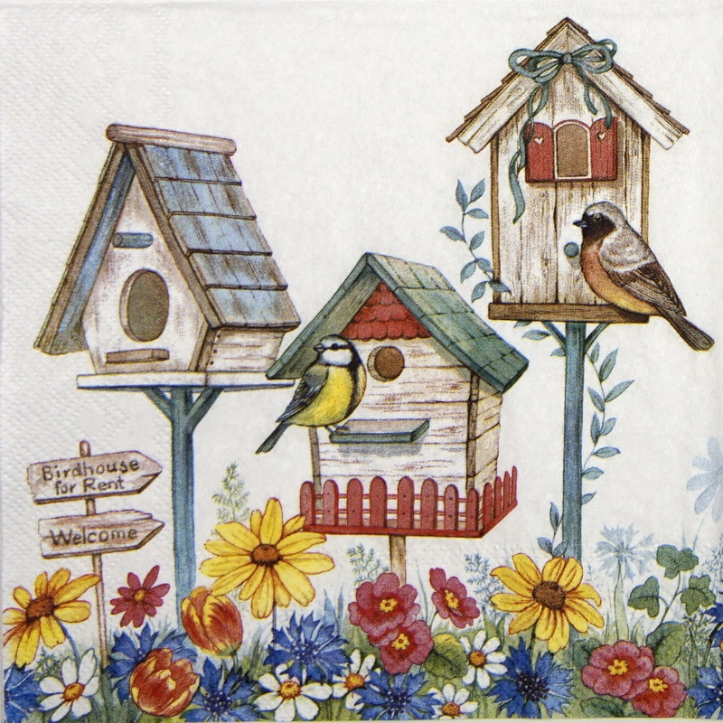 Lunch Napkins (20) - Birdhouse for Rent