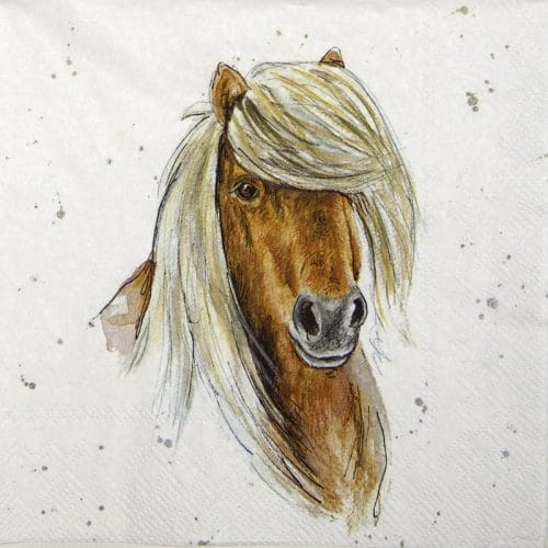 Paper Napkin - Farmfriends horse