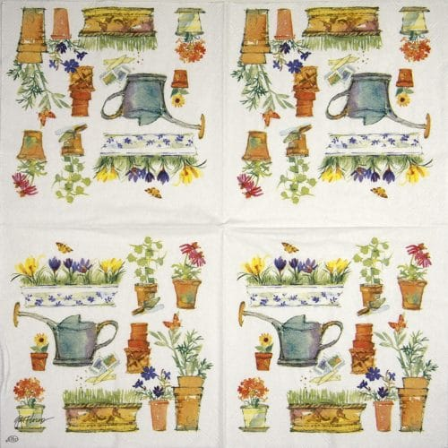 Cocktail Napkins (20) - Spring Garden
