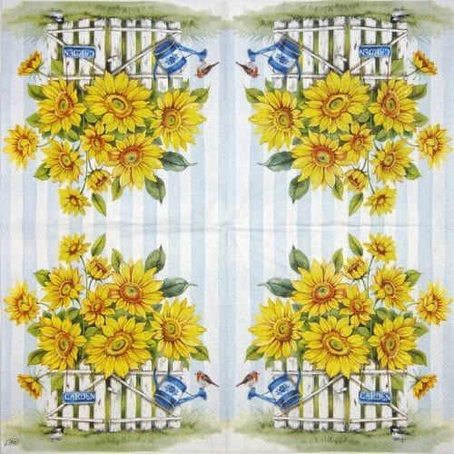 Paper Napkin - Sunflowers garden