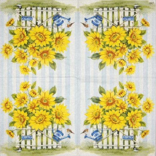 Cocktail Napkin - Sunflower Garden