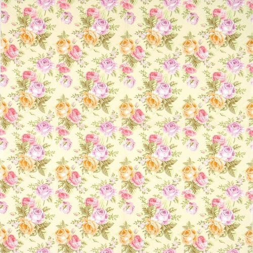 Paper Napkin - Pastel Roses Wallpaper