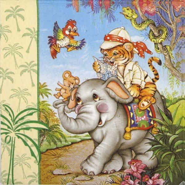 Paper Napkin - Animal safari