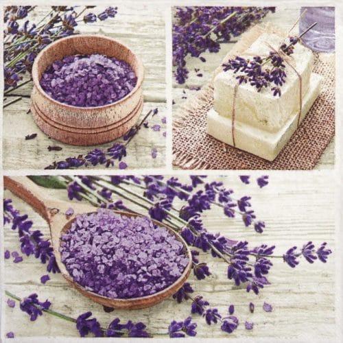 Paper Napkin - Lavender Spa Squares