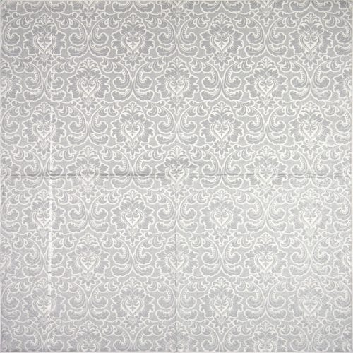 Paper Napkin - Wallpaper pattern silver