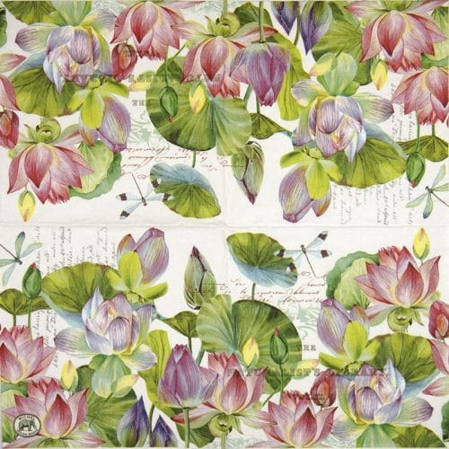 Cocktail Napkins (20) - Water Lilies