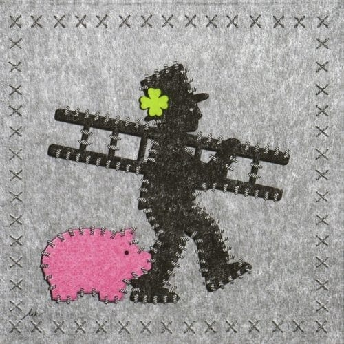 Paper Napkin - Ute Krause: Felt Chimney Sweeper