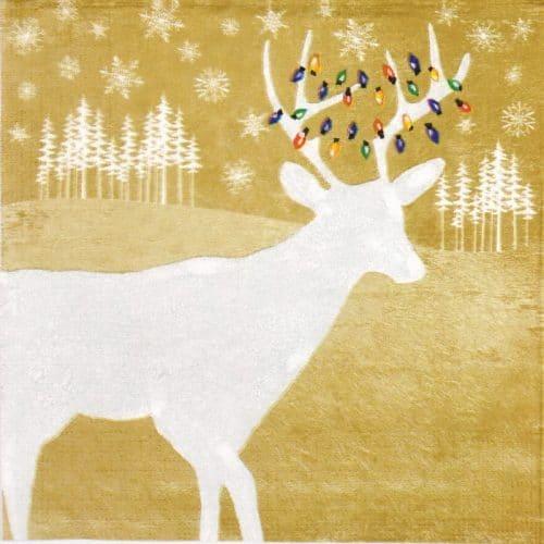 Paper Napkin - Woodland Deer gold
