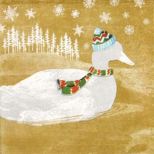 Paper Napkin - Woodland Duck gold