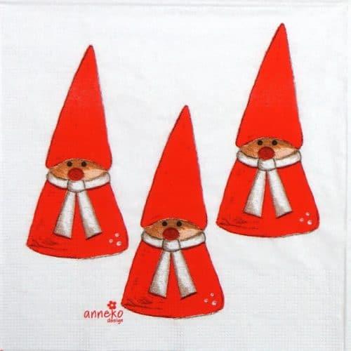 Paper Napkin - Anneko Design: Gnomes