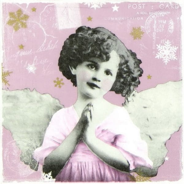 Paper Napkin - Praying Angel berry