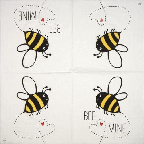 Paper Napkin - Ute Krause: Bee Mine