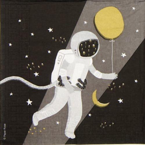 Paper Napkin - Paper Rose: Capisco Astronaut