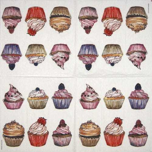 Lunch Napkins (20)- Marina Brockhoff: Cup cakes