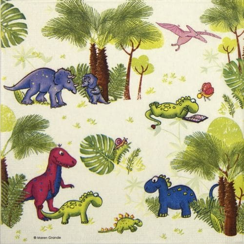 Paper Napkin - Maren Grande: Dinos