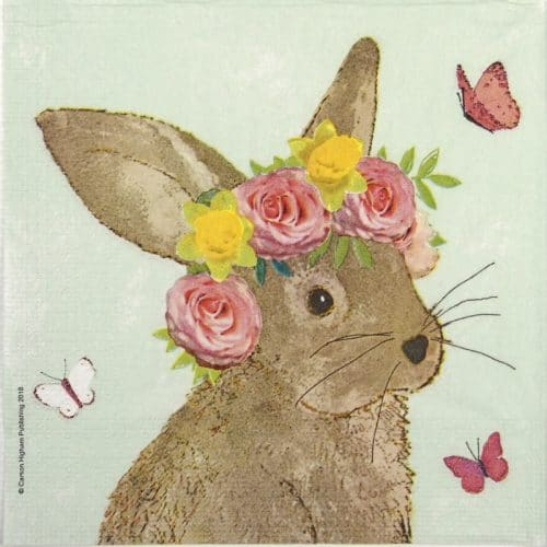 Lunch Napkins (20) - Carson Higham: Easter Beauty green